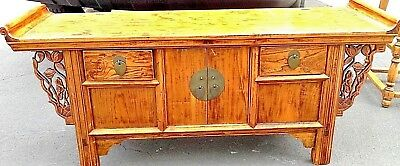 "Antique Asian Style Low Table Used For Tea, Coffee 48""d X 22""w X 14""h"