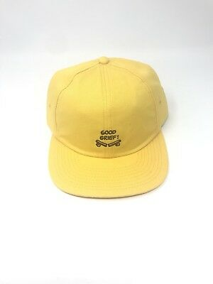 eed2fbd6 Vans Peanuts Good Grief Yellow Hat OS Baseball Cap New NWT Adjustable
