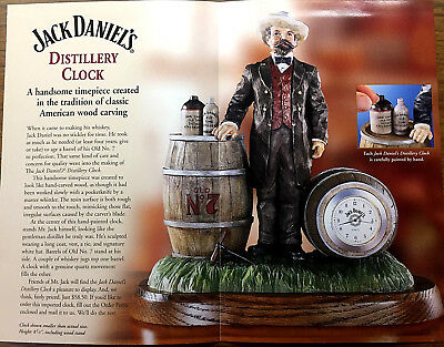 Jack Daniels Limited Distillery Clock Hand Painted  New Never Out Of Box 2003