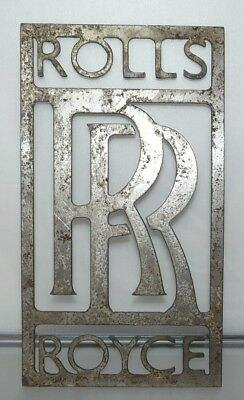 "Rolls-Royce Sign LARGE size, perfect also as a stencil 12"" 31cm tall. Metal. 705"