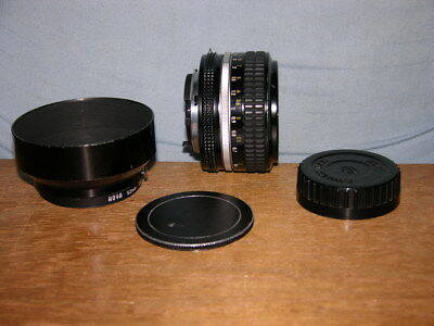 Nikon Nikkor 50mm f1.4 Lens #3951204 with Nikon F Hood