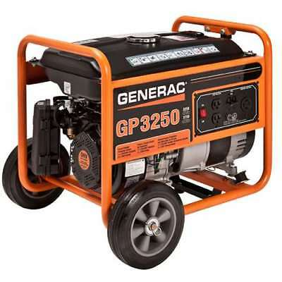 Generac GP Series 3750 Watt Max Gas Powered Camping Portable Generator (Damaged)