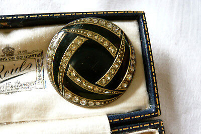 Vintage Jewellery Art Deco Pierre Bex Design Enamel Brooch Pin