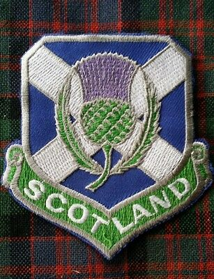 Scottish Saltire And Thistle Patch