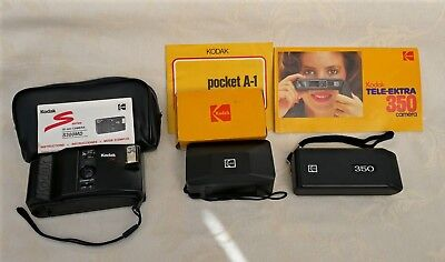 Job lot of Kodak cameras X 3.