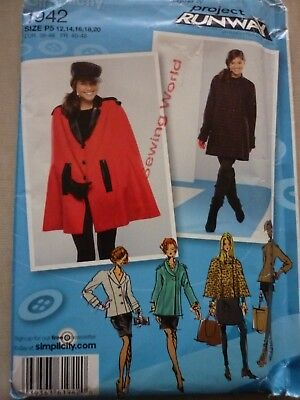 New Simplicity Coat Jacket & Cape Sewing Dressmaking Pattern