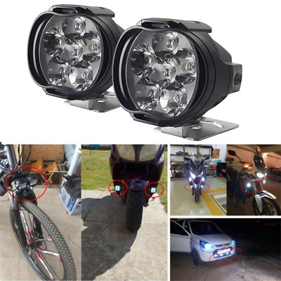 6LED Motorcycle Headlight Spot Lights Head Lamp LED Front DC12V Driving ZSUS