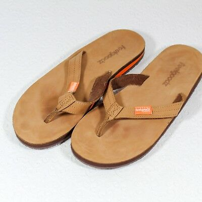 16b627fb6ff52a WOMEN S FEELGOODZ NATURAL Leather Flip Flops Size 10 - NWT -  15.00 ...