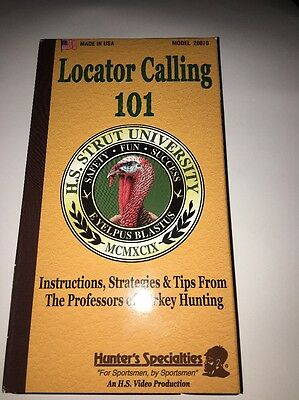 Locator Calling 101,Turkey Hunting VHS.Instructions for Locator Calling