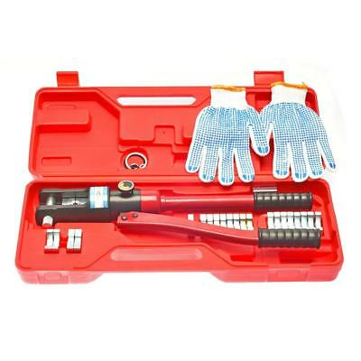 16 Ton Hydraulic Wire Crimping Tool - Battery Cable Lug Terminal Crimper...