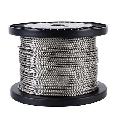 """Zoostliss 200Ft Stainless Steel Aircraft Wire Rope 1/8"""" for Deck Cable..."""