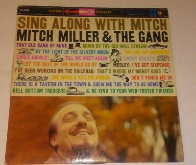 Vintage 1944 Sing Along With Mitch Miller and the Gang vinyl LP record