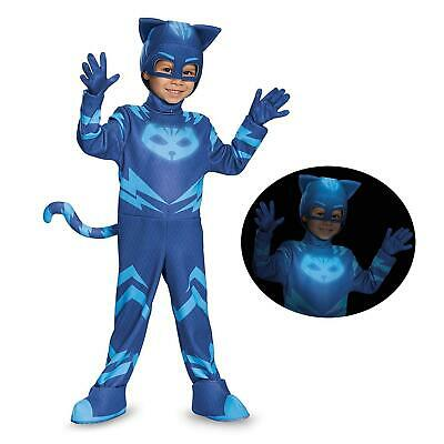 NEW PJ Masks Catboy size S 2T Glow-in-Dark Deluxe Costume Disguise