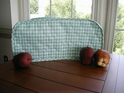 Sage Green Gingham Large Toaster Oven Appliance Cover,Cotton Blend,quilted fabri
