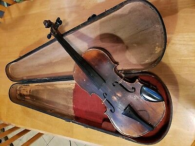 1870's - Early Paganini Violin With Coffin Wooden Case