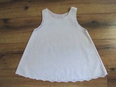 Cherubs Vintage White Embroidered Slip - 24 months  Excellent!