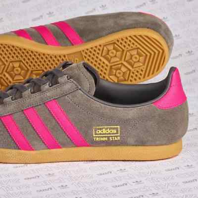 size? Exclusive adidas Trimm Star Grey Magenta Release Date