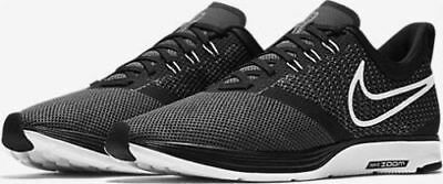 Men's Nike Zoom Strike Running Shoes Aj0189 001 Black, White, Dark Grey Nib
