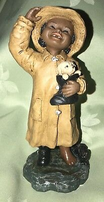 "All God's Children Figurine "" KACIE "" Martha Holcombe Black Americana COA"