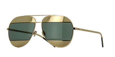 284736a9ca49 NEW CHRISTIAN DIOR SPLIT1 00085 Rose Gold   Gold Green Sunglasses ...