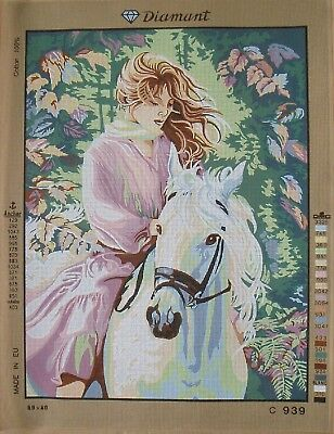 Diamant / Gobelin needlepoint canvas, lovely lady or girl choose from 10 models