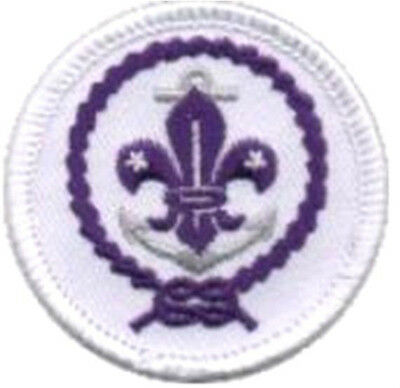 Sea Scout World Crest With Anchor Boy Scouts BSA Patch Private Issue White