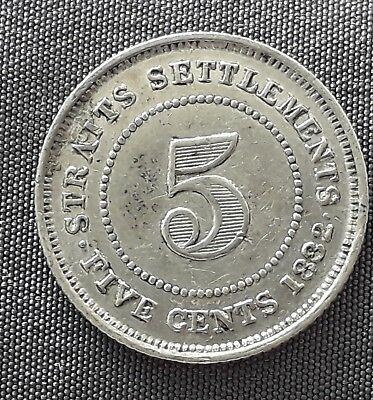 Straits settlements 5ct 1882H