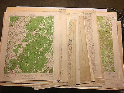 Vintage Maps of Virginia Topographic Reconnaissance Editions 1891-1957