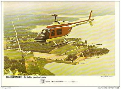 Bell Military US Navy TH-57A Trainer Helicopter From Bell Public Relation 1970s