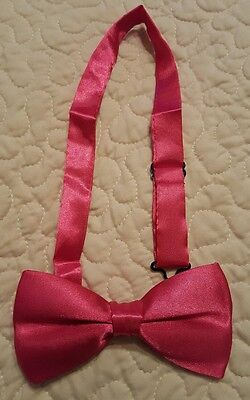 Satin Bow Tie, Fuchsia - Brand New in Package