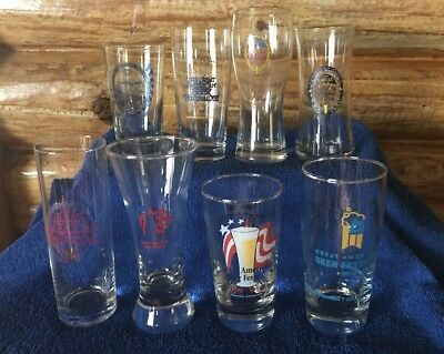 LOT OF 8 Great American Beer Festival GABF 90's Taster Glasses Denver, CO
