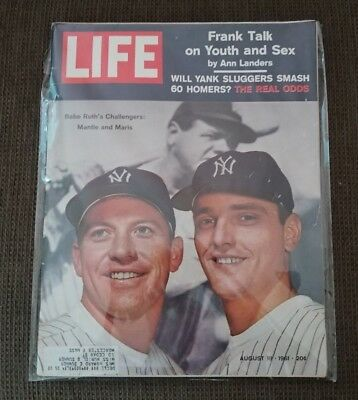 Life Magazine August 18, 1961 Mickey Mantle, Roger Maris, Bobby Kennedy