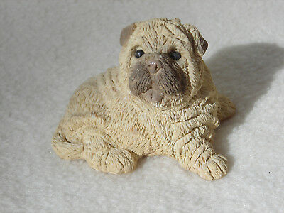 Collectible United Design Corp. Stone Critters Dog Figure Shar Pei Puppy