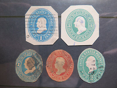 5 VARIOUS UNITED STATES POSTAGE STAMPS in NICE COLLECTABLE CONDITION c1900