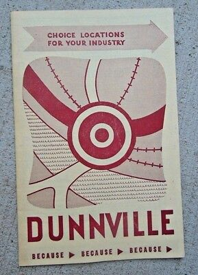 Vintage 1950's Promotional Brochure Dunnville Ontario