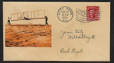 Wright Brothers collector envelope w original period stamp 113 years old *OP1145