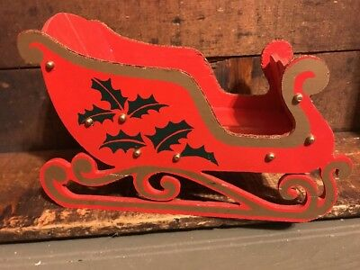 Vintage Folding Wooden Christmas Sleigh JAPAN