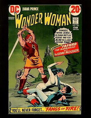 Wonder Woman #202 VF Giordano 1st Fafhrd & Gray Mouser Catwoman Jonny Double