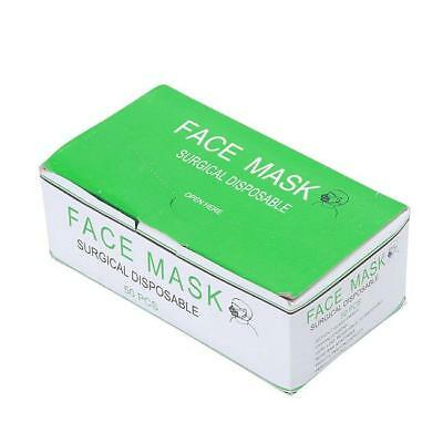 Women Men 50Pcs Disposable Medical Mouth Face Mask Anti-Dust Mouth Cover H