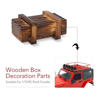 Wooden Box For RC Rock Crawler 1:10 Axial SCX10 RC4WD D90 Tamiya CC01 BH
