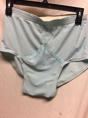 Vintage Men's JOCKEY Thoroghbred Nylon Tricot Y Front Briefs Silky Blue Size 34
