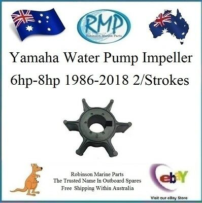 A New Yamaha Outboard Water Pump Impeller 6hp-8hp 1986-2018 # 6G1-44352-01-00