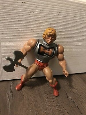 vintage Motu Masters Of The Universe Battle Armour HE-MAN loose With Axe
