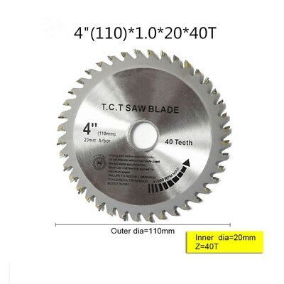"""4"""" 110MM 40T TCT Angle Grinder Circular Saw Blade For Steel Iron Wood Plastic K6"""