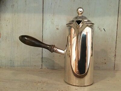 Vintage Silver Plated Milk Pourer With Wooden Turned Handle Circa 1900s Quality