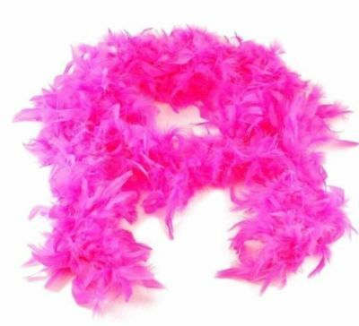 2M Hot Pink Feather Boa Costume Accessory Fancy Dress Burlesque Showgirl Dancer