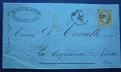Lettre ancienne : n° 13 Ab,petits chiffres 503,indice 5