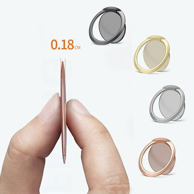 Ultra Thin Magnetic Phone Holder Mount Finger Ring Stand For Cell Phone Tablet