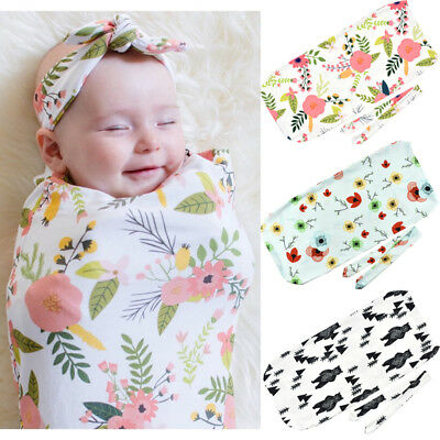 Newborn Baby Cocoon Sleeping Bag with Bow Sets Crib Blanket Baby Wrap Sleepsacks