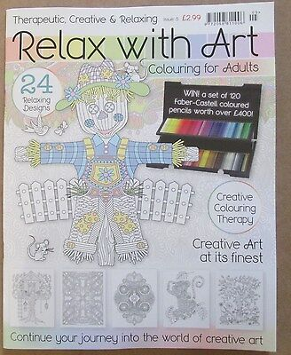 Relax With Art Issue 5 Adult Colouring Book